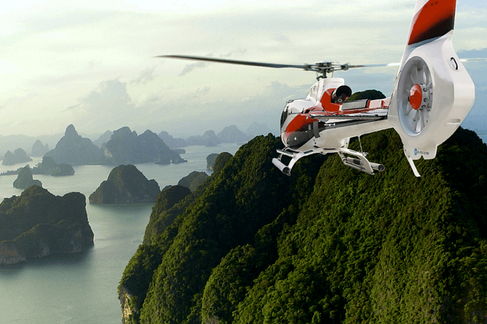 Helicopter over Phang Nga Bay